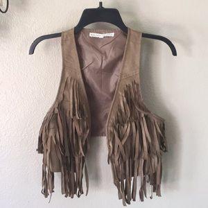Almost Famous BOHO Festival fringe  vest size S